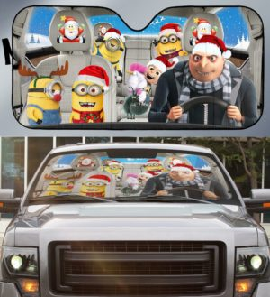 CARSUNDESPICABLEME - Car Sunshade - 3D Full Printed One Style One Color One Size