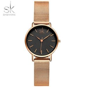 SK Super Slim Silver Mesh Stainless Steel Watches Women Top Brand Luxury Casual Clock Ladies Wrist Watch Lady Relogio Feminino One Style Gold 03 One Size