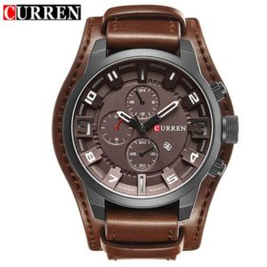 Curren 8225 Army Military Quartz Mens Watches Top Brand Luxury Leather Men Watch Casual Sport Male Clock Watch Relogio Masculino One Style Black Brown One Size