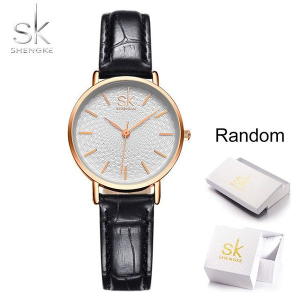 SK Super Slim Silver Mesh Stainless Steel Watches Women Top Brand Luxury Casual Clock Ladies Wrist Watch Lady Relogio Feminino One Style Leather Black Box One Size