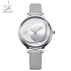SK Fashion Luxury Brand Women Quartz Watch Creative Thin Ladies Wrist Watch For Montre Femme 2019 Female Clock relogio feminino One Style Silver L One Size