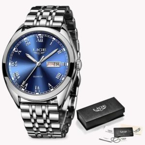 2019 LIGE New Rose Gold Women Watch Business Quartz Watch Ladies Top Brand Luxury Female Wrist Watch Girl Clock Relogio Feminin One Style Silver Blue 1 One Size