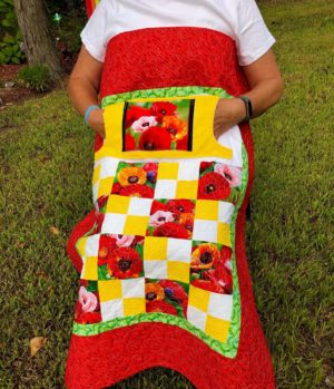 LQUILT - Lap Quilts With Pocket - [Poppies Lovie] - [85 x 105cm] 5d9203ff72a398d6b65a9055